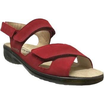 Zapatos Mujer Sandalias Mobils By Mephisto Geryna Rojo nobuck