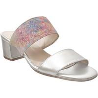 Zapatos Mujer Zuecos (Mules) Brenda Zaro F3652 cuero platino