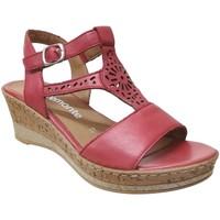 Zapatos Mujer Sandalias Remonte Dorndorf D4753 Cuero rojo