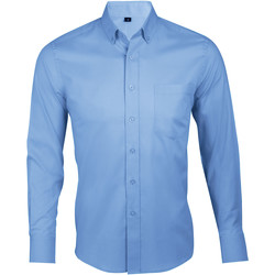 textil Hombre Camisas manga larga Sols BUSINESS MEN Azul