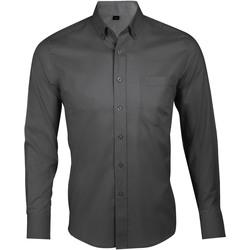 textil Hombre Camisas manga larga Sols BUSINESS MEN Gris