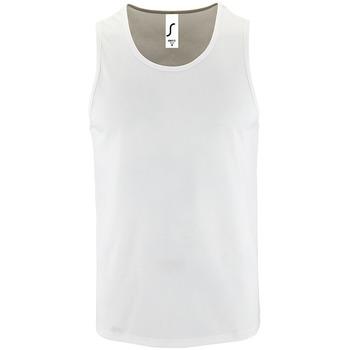 textil Hombre Camisetas sin mangas Sols SPORT TT MEN Blanco