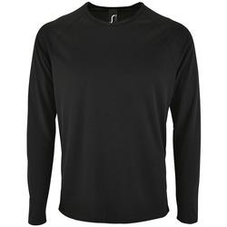 textil Hombre Camisetas manga larga Sols SPORT LSL MEN Negro