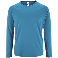 textil Hombre Camisetas manga larga Sols SPORT LSL MEN Azul