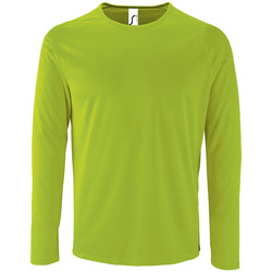 textil Hombre Camisetas manga larga Sols SPORT LSL MEN Verde