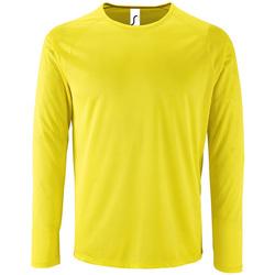 textil Hombre Camisetas manga larga Sols SPORT LSL MEN Amarillo