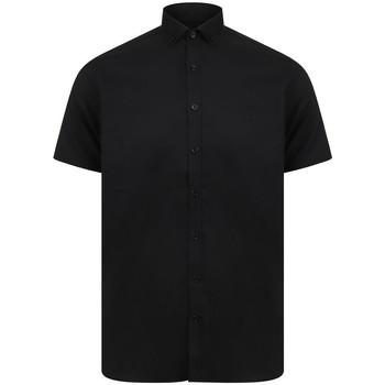 textil Hombre Camisas manga corta Henbury HB517 Negro