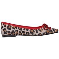 Zapatos Mujer Bailarinas-manoletinas Euforia 500 Ante leopardino Mujer Combinado Multicolor
