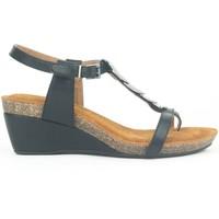 Zapatos Mujer Sandalias Chattawak Petit Talon 9-MILA Noir Negro
