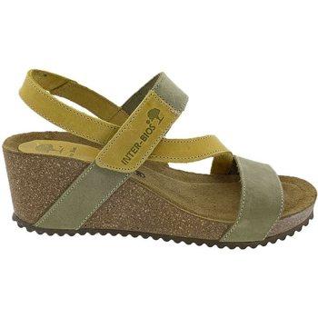 Zapatos Mujer Sandalias Interbios Sandalias  5635 Kaki Mostaza Verde