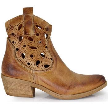 Zapatos Mujer Botines Exé Shoes BOTÍN PIEL MUJER MARRÓN ALANA-800 Color Marrón