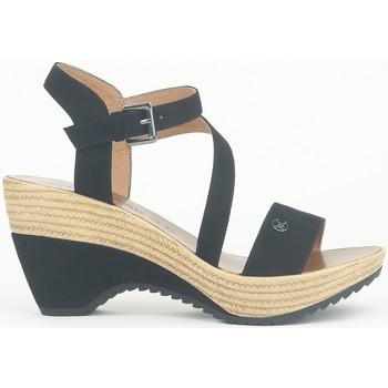 Zapatos Mujer Sandalias Chattawak Compensée 9-MAELLE Noir Negro