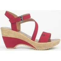 Zapatos Mujer Sandalias Chattawak Compensée 9-MAELLE ROUGE Rojo
