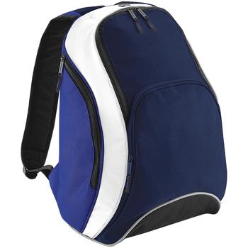 Bolsos Mochila Bagbase BG571 Azul marino/azul/blanco