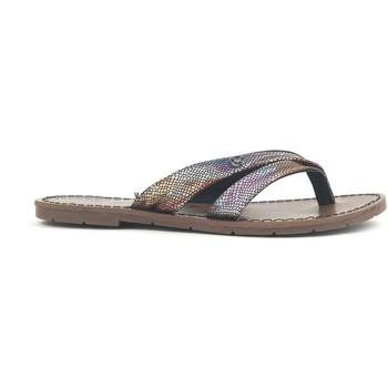 Zapatos Mujer Sandalias Chattawak Tong 9-KALINDA Noir Negro