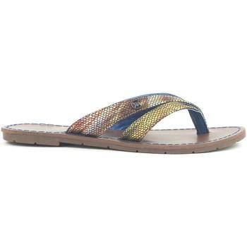 Zapatos Mujer Sandalias Chattawak Tong 9-KALINDA Bleu Azul