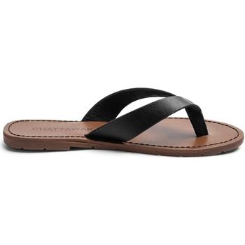 Zapatos Mujer Chanclas Chattawak Sandale  9-TANGO Noir Negro