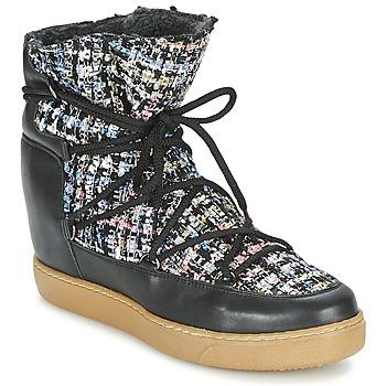 Zapatos Mujer Botas de caña baja Meline DERNA Negro