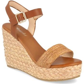 Zapatos Mujer Sandalias Prisska YB519 Camel