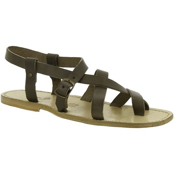 Zapatos Mujer Sandalias Gianluca - L'artigiano Del Cuoio 530 U FANGO CUOIO Fango
