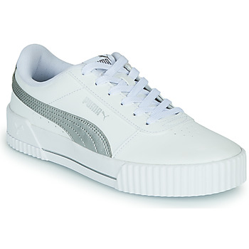 Zapatos Mujer Zapatillas bajas Puma CARINA Blanco / Plateado