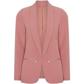 textil Mujer Chaquetas / Americana Anastasia Chaqueta  para mujer rosa con borde de borde Blazer Pink