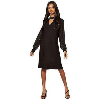 textil Mujer Vestidos cortos Anastasia - Vestido forrado con gasa Black