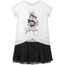 textil Niña Vestidos cortos Mayoral Vestido combinado Blanco Blanco