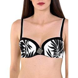 textil Mujer Bañador por piezas Lisca Top de traje baño preformado negro  Ocean City Pearl Black