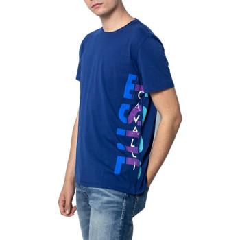 textil Hombre camisetas manga corta Roberto Cavalli S03GC0530 Blu