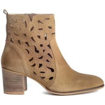 Zapatos Mujer Botines Funny Lola 3650 Marrón