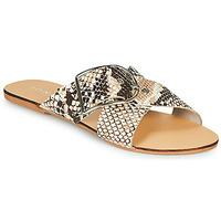 Zapatos Mujer Zuecos (Mules) Jonak JASMINE Marrón / Serpiente