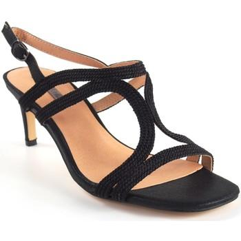 Zapatos Mujer Sandalias Bienve Ceremonia señora  1sl-0108 negro Negro