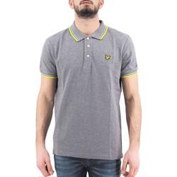 textil Hombre polos manga corta Lyle & Scott | Camisa polo con punta, gris | LYS_SP800VTR Z915 Gris