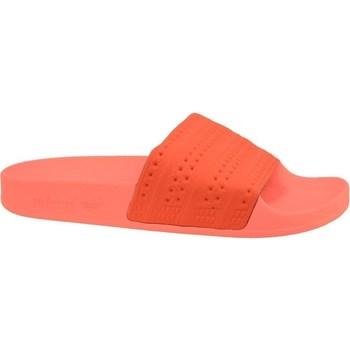 Zapatos Hombre Chanclas adidas Originals Adilette Rojos,De color naranja