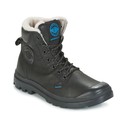 Wps Negro Sport Botas Caña Baja Zapatos De Palladium Pampa f76bgy
