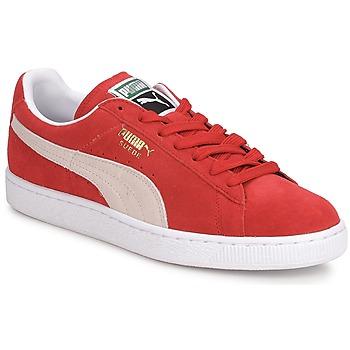 Zapatos Hombre Zapatillas bajas Puma SUEDE CLASSIC + Rojo / Blanco
