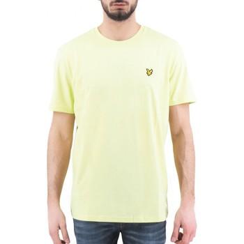 textil Hombre camisetas manga corta Lyle & Scott | Camiseta lisa, amarilla | LYS_TS400V Z913 jaune