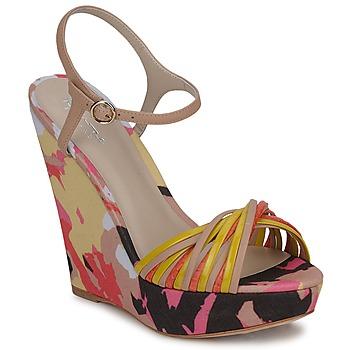 Zapatos Mujer Sandalias Bourne KARMEL Beige / Multicolor