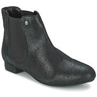 Zapatos Mujer Botas de caña baja Elle MABILLON Negro / Brillante