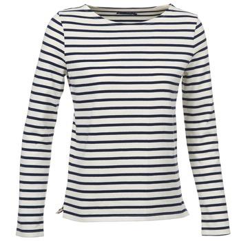 textil Mujer Camisetas manga larga Petit Bateau SYMBOLE Crudo / Marino