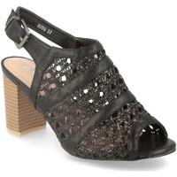 Zapatos Mujer Sandalias Encor A059 Negro