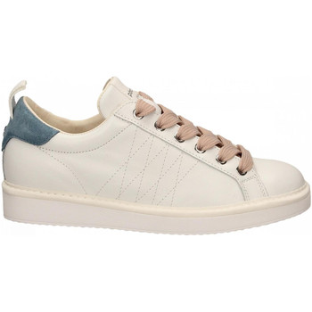 Zapatos Mujer Zapatillas bajas Panchic LOW CUT LEATHER FULL GRAIN white-niagara-quartz