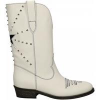 Zapatos Mujer Botas urbanas Via Roma 15 TEXANO STELLA E PIRIAMIDI bianco