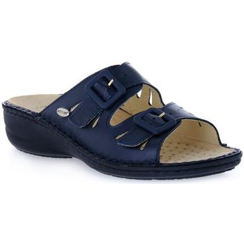 Zapatos Mujer Zuecos (Mules) Grunland BLU DARA Blu