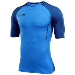 textil chaquetas de deporte Kelme CAMISETA MANGA CORTA MONTES AZUL NEON