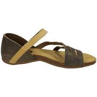 Zapatos Mujer Sandalias Interbios Sandalia bajas kaki Verde