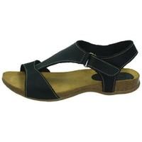 Zapatos Mujer Sandalias Interbios Sandalias bios negro NEGRO