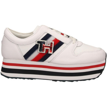 Zapatos Mujer Zapatillas bajas Tommy Hilfiger TOMMY CUSTOMIZE ybs-white