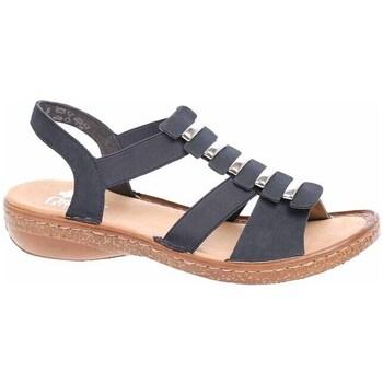 Zapatos Mujer Sandalias Rieker 6285014 Negros,Marrón